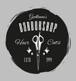 barber scissors gentlemen s barber shop shaving vector image vector image