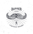 barber shop mustage vector image vector image