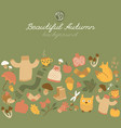 beautiful autumn green background vector image vector image