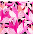 beautiful lotus flower pattern vector image vector image
