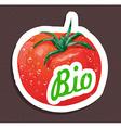 Bio tomato tag vector image vector image