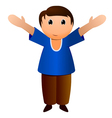 boy with open arms vector image vector image