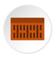 Brick icon flat style vector image vector image