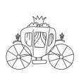 carriage for princess isolated vector image