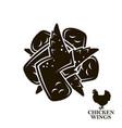 chicken wings icon vector image vector image