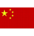 China flag embroidery design pattern vector image