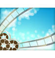 cinema blue background vector image