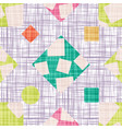 cloth abstract print with geometric shapes vector image vector image