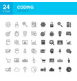 coding line web glyph icons vector image vector image