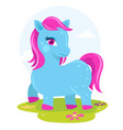 colorful pony fantasy horse vector image