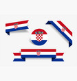 croatian flag stickers and labels vector image vector image