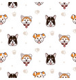 cute dogs animal seamless pattern vector image vector image