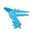 cute fanny parazavrolofus prehistoric animal vector image