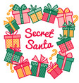 decoration for secret santa activity frame made vector image