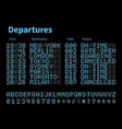 departures and arrivals airport digital board vector image