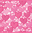 doodle hearts seamless repeat pattern vector image