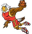 eagle sports basketball logo mascot vector image vector image
