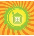 eco home symbol icon vector image vector image
