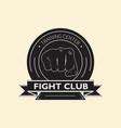 emblem fight club vector image