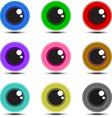 Eye Ball Multicolor vector image vector image