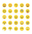 flat icons pack of smileys vector image