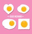 fried egg good morning vector image
