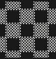 geometric black and white seamless grid pattern vector image vector image