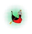 Gondola with gondolier icon comics style vector image