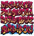 graffiti font - sleek vector image