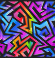 graffiti geometric pattern vector image