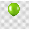 green balloon isolated transparent background vector image vector image
