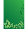 green floral background for saint Patrick day vector image vector image