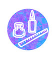 hand drawn icon clerical vector image