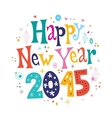 Happy New year 2015 card 2 vector image vector image