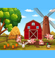 happy rural farm animals vector image vector image