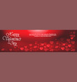 happy valentines day horizontal banner with vector image