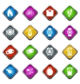 Jogging and workout icons set vector image