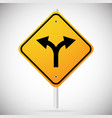 junction road sign - separation two paths two vector image