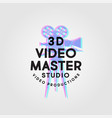 logo video 3d camera master stereo film vector image