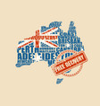 map of australia free delivery stamp vector image