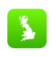 map of great britain icon digital green vector image