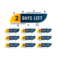 memphis style number days left symbols vector image