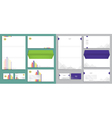 Modern stationery set in format vector image vector image