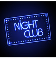 Neon sign Night club vector image