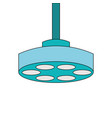 operating theater lamp icon vector image