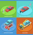 parking isometric collection vector image