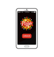 pizza order smartphone app vector image vector image