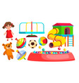 playground toys doll ball bear carousel vector image