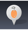 Plum pin map icon Fruit vector image vector image