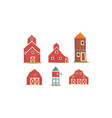 rural farm buildings collection agriculture vector image vector image